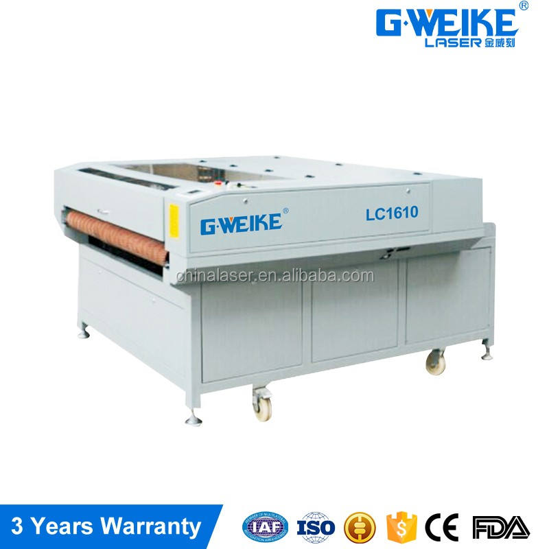 laser cutting machine LC1610 suitable for non metal industry
