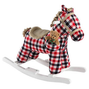 Hollyhome baby toys soft stuffed plush animals wooden rocking horse