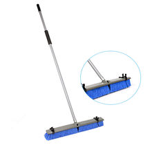 "24"" Heavy Duty Cleaning Soft Sweeping Easy Push Washing Broom with Long Stick"