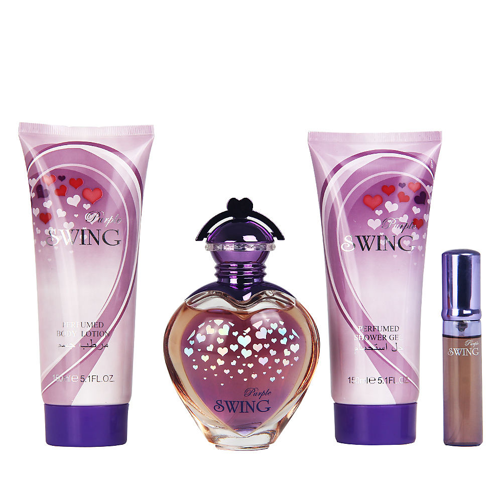 OEM Groothandel Geen Merk 100 ml parfum + 150 ml douchegel + 150 ml body lotion + 15 ml mini Parfum set