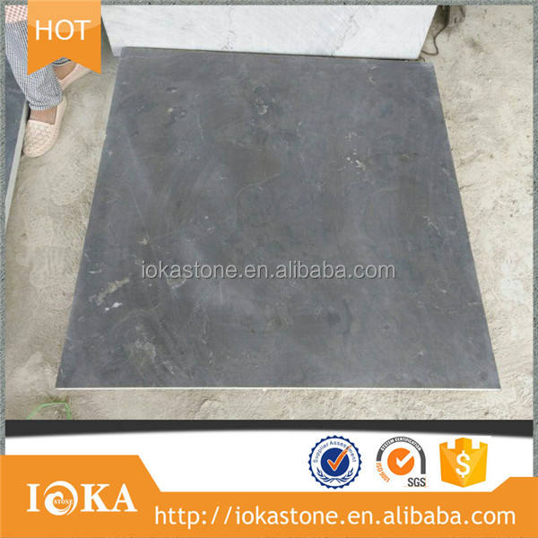 Honed China Shandong Blue Paving Limestone Tiles for Exterior Floor