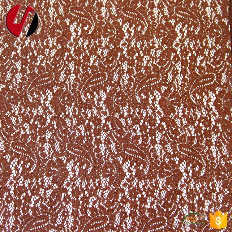 Nigerian lace jacquard paisley pattern nylon Cotton Lace Fabric cord lace