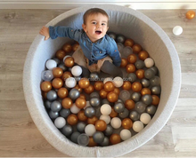 Wholesale Green Kids Round Ball Pit, Premium Handmade Kiddie Balls Pool, Soft Indoor Outdoor Nursery Baby Playpens