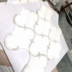 big lantern design star white with shell waterjet mosaic