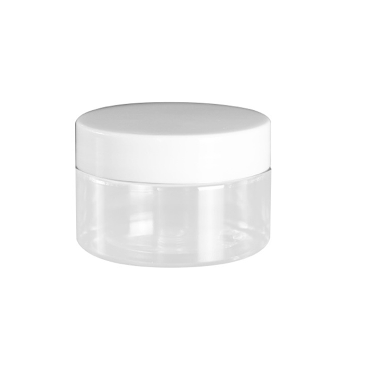 custom round cosmetic packaging cream 100ml 8oz plastic jar with gold lid black lid