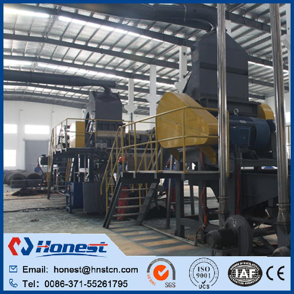 Full Automatic cheap waste tires recycling machine/ rubber powder grinding machine
