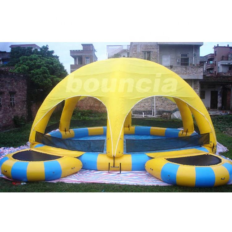 0.9mm PVC Tarpaulin Activity Inflatable Pool With Cover And Platform