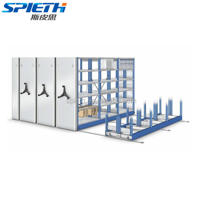 High Density Mechanical Library Anti-theft Mobile Shelving System