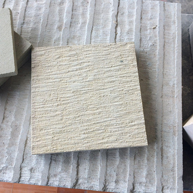 Beige Sandstone Chiseled Surface Finishing Stone Outdoor Wall Decorative Panel