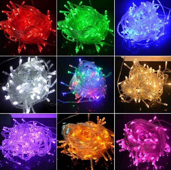 Holiday Outdoor 100 LED String Lights 10M 220V 110V Christmas Xmas Wedding Party Decorations Garland Lighting Christmas light