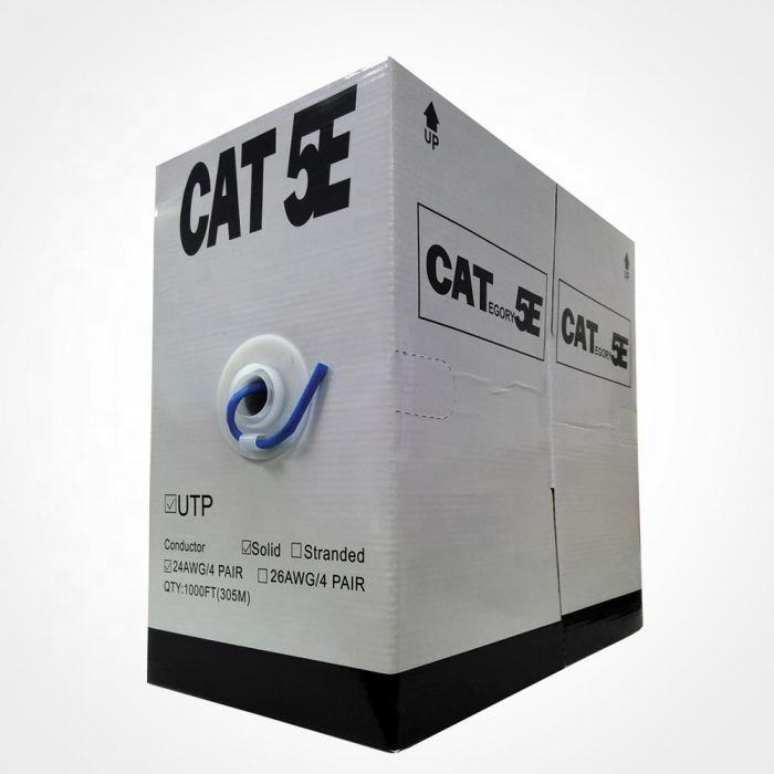 24AWG 4 Pair <span class=keywords><strong>UTP</strong></span> Cat5e Outdoor Cable 305m