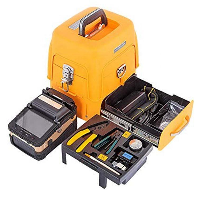 Handheld Optical Fiber Fusion Splicer Automatic Splicing Machine AI-8C 6 motors core to core 6s splicing