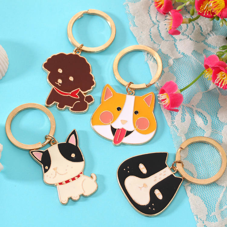 Wholesale Cute Cartoon Animal Metal Keychain With Custom Logo