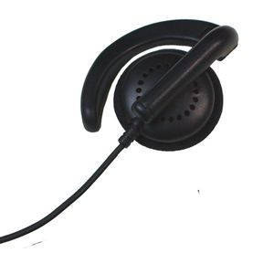 Profesional call center headset dengan konektor RJ11 atau 2.5mm jack dan kabel spiral
