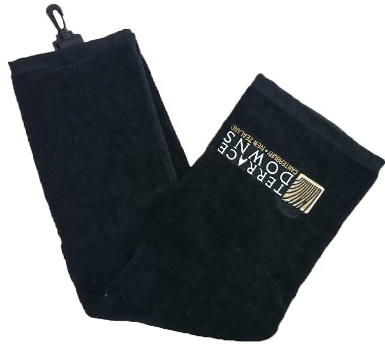 Wholesale towel, cotton terry velour club golf towel for custom embroidered golf towels