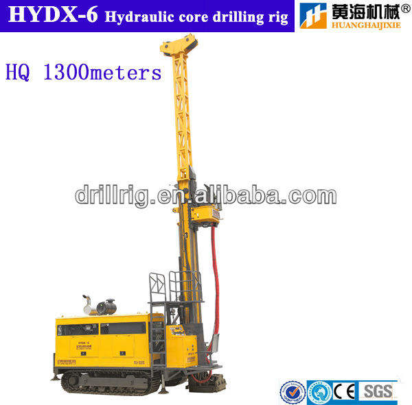 Surface core drill rig HYDX-6 diamond coring equipments for geological exploration drilling