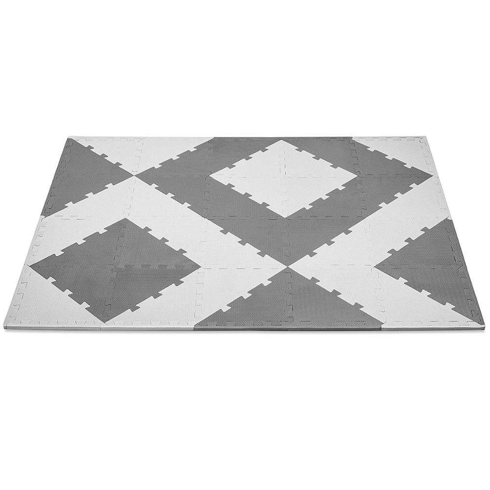 China manufacturer abrasive anti fatigue decorative pattern design plastic non slip floor eva foam mats