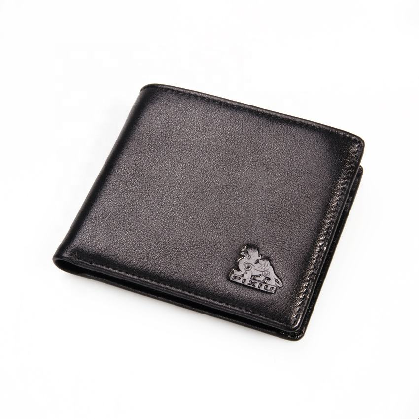 Fashionable Lychee Cowhide Genuine Leather Men's Wallet
