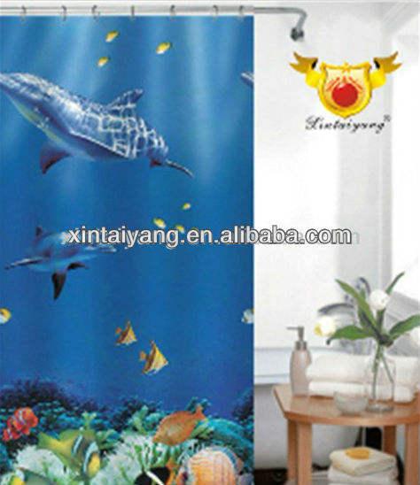 Морской дельфин дизайн полиэстер океан занавески для душа, в поисках немо комплект для ванной комнаты