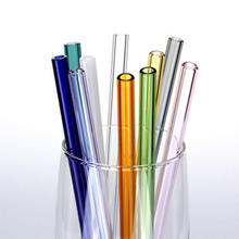 Eco Friendly Reusable Straight Glass Straws Smoothie Drinking Straws