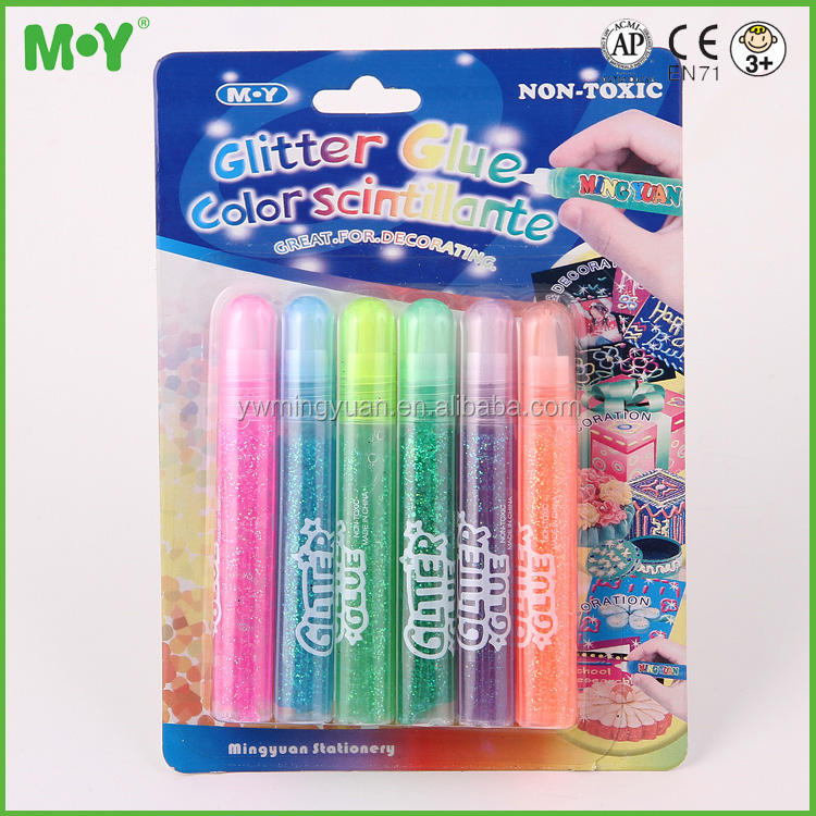 Hot Art & Craft supply school Accessories 10ml washable Color Painting Glitter Glue