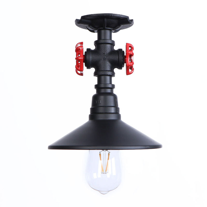 Loft Antique Industrial Metal Pipe Ceiling Light Indoor Replacement Bulb Led Ceilling Lights, Edison Bulb Ceiling Light