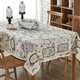 Linens Tablecloths Picnic Burlap Tablecloth for Round&Rectangular&Oval Table Cover with Map Printed LYTC012
