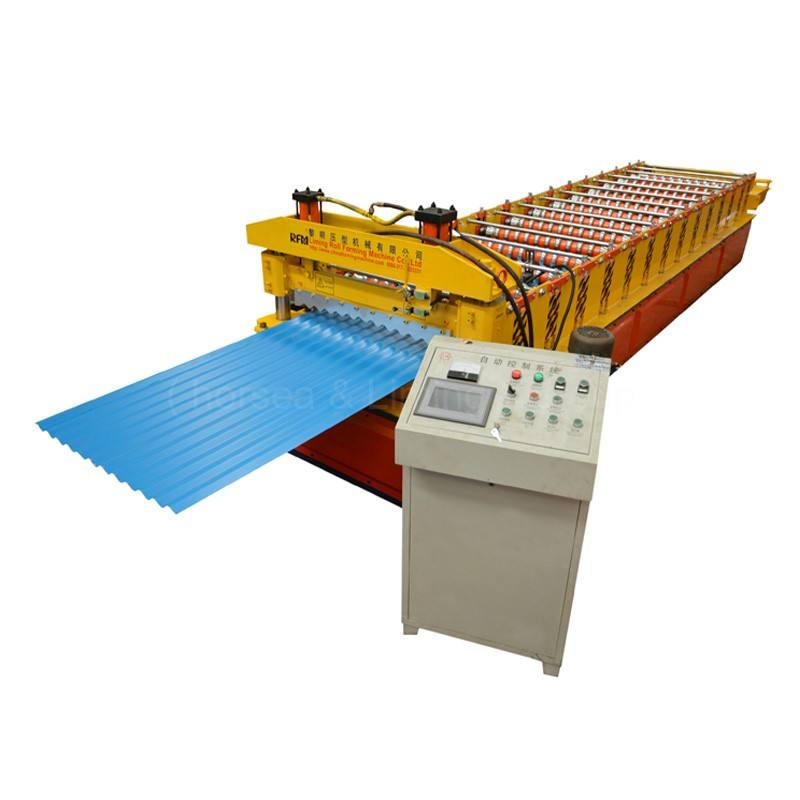 good quality long-life fascia board two heads homemade roll forming machine