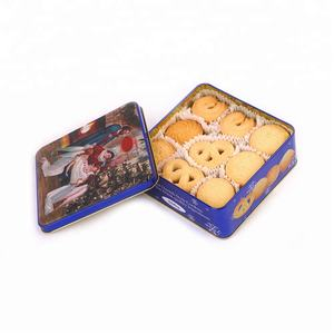Metal Tin Box Christmas Gift Packing bag peanut butter cookies and biscuits snack