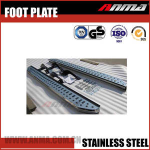 Stainless steel blossom pedals led door sill scuff plate