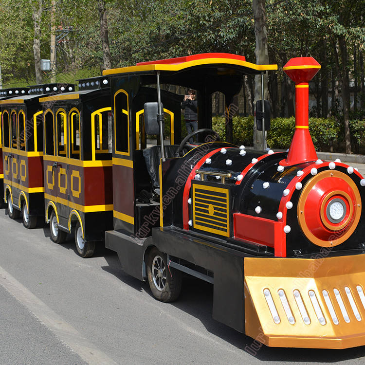 China Factory Supplier Electric Trackless Tourist Train For Sale