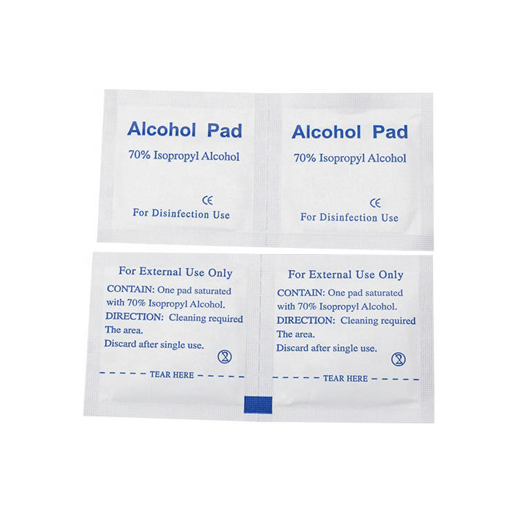 Factory Outlet CE Alcohol Pads 70% Isopropyl Alcohol For External Use Only
