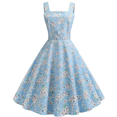 Ecowalson เซ็กซี่ Halter Party 2019 Retro Hepburn Vintage 50 s 60 s Pin Up Rockabilly Dresses Robe