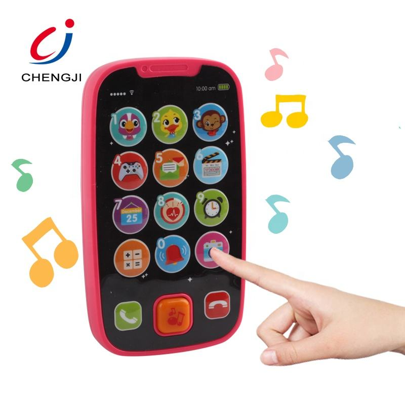Educational learning toys plastic musical mobile with light baby phone toy