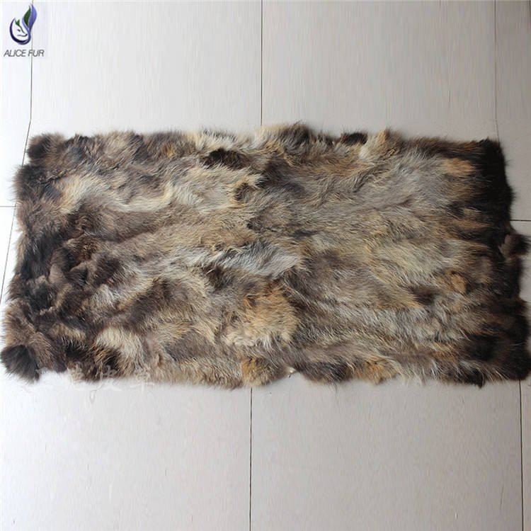 ALICEFUR Wholesale price high quality raccoon fur plates real raccoon fur blanket for sale
