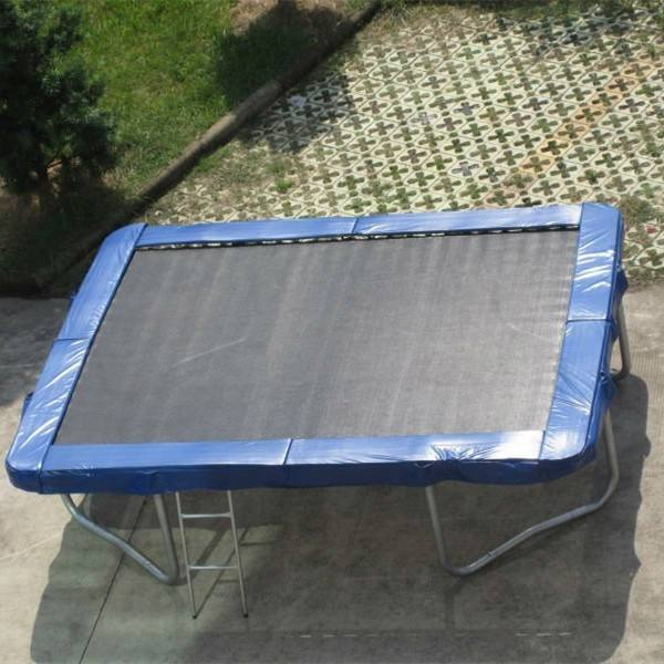 17ft rectangular cheap square trampoline with safety net