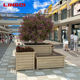 Outdoor Large Metal Square Aluminum Alloy Planter Pot Bench Box