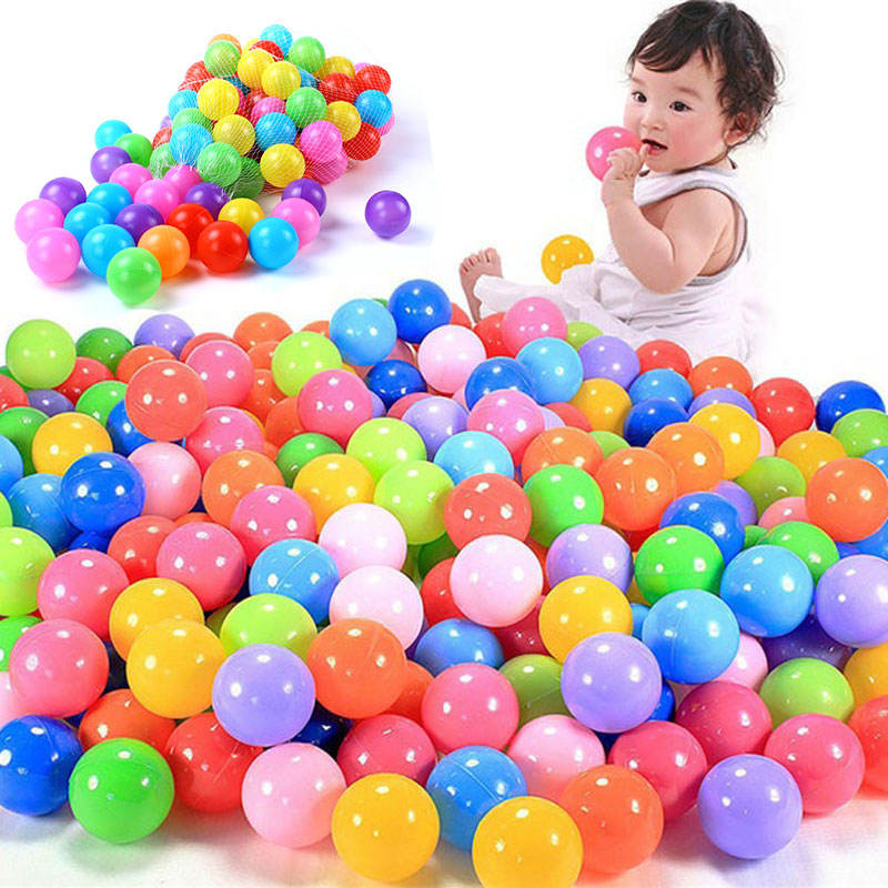 Colorful Soft Plastic Ocean Ball 55mm 70MM Safty Secure Baby Kid Pit Toys Swim