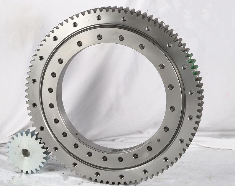 High quality factory Single Row Four Point Contact Ball Slewing Bearing External Gear with Pinion