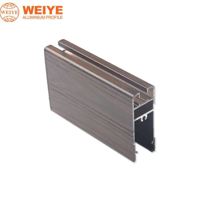wooden grain sliding window door aluminum extrusion
