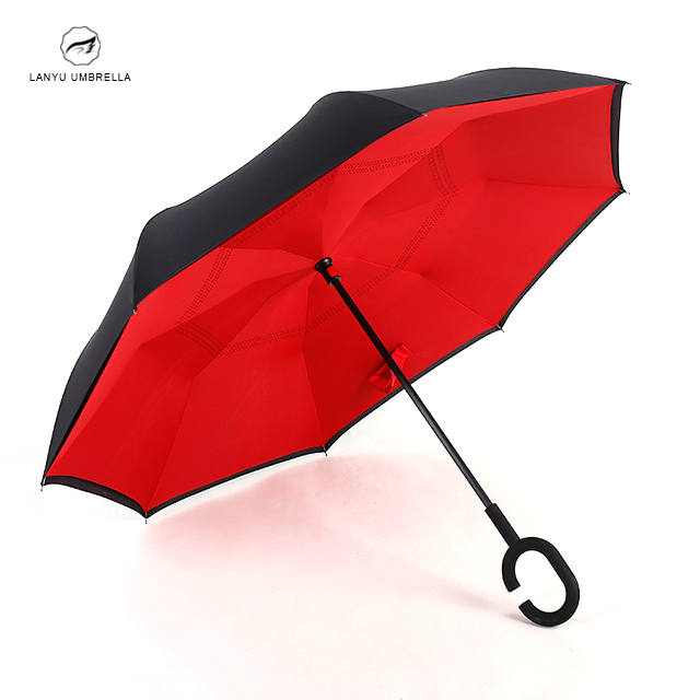 Drivers'high quality straight inverted umbrella used in cars