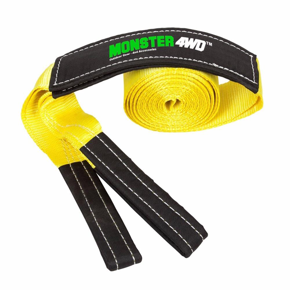 8T 6 Meter 4x4 Heavy Duty Recovery Winch Tow Snatch Strap Rope Towing Offroad