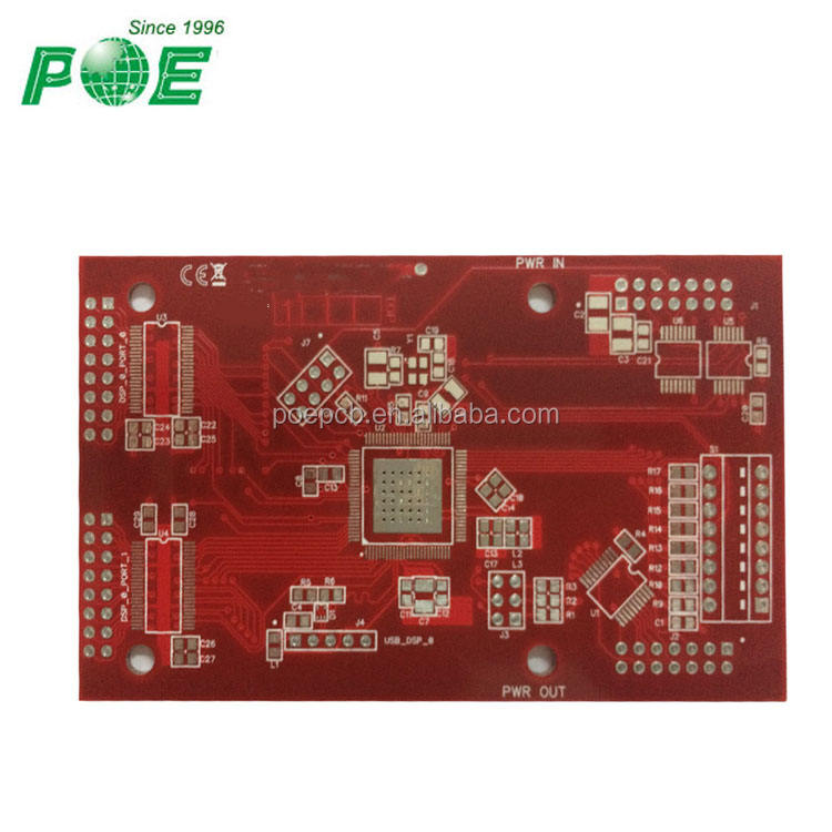 Quick turn PCB maker circuit Red solder mask PCB