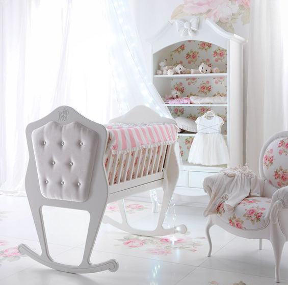 sweet white new born Baby girl Nursery infant crib BABY ROOM FOR small baby