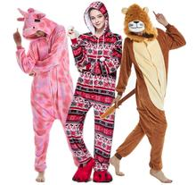 Wholesale flannel adult animal onesie pajamas with drop seat