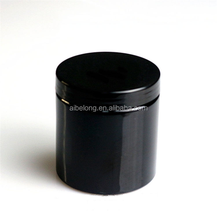 IBELONG hot sale 500ml empty black pet plastic jar with lids manufacturer