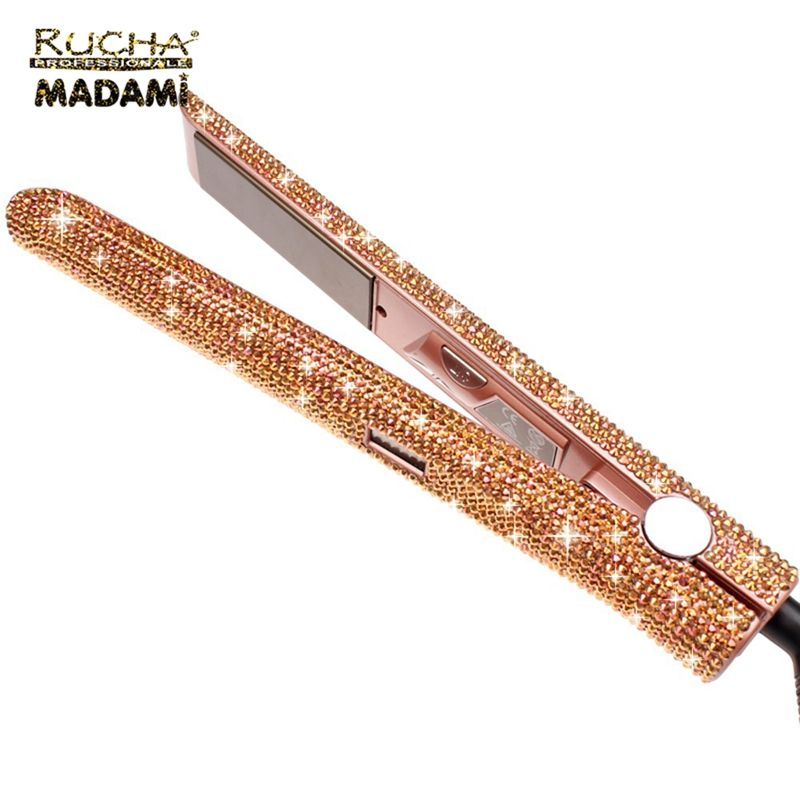 Hot Selling Fashion Fast Heating Hair Straightener Titanium Crystal Flat Iron