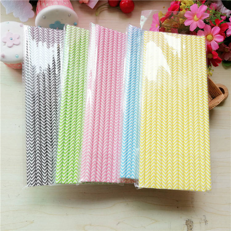 Wholesale Decoration Wedding Party Drinking Straws Stripe Paper Straws