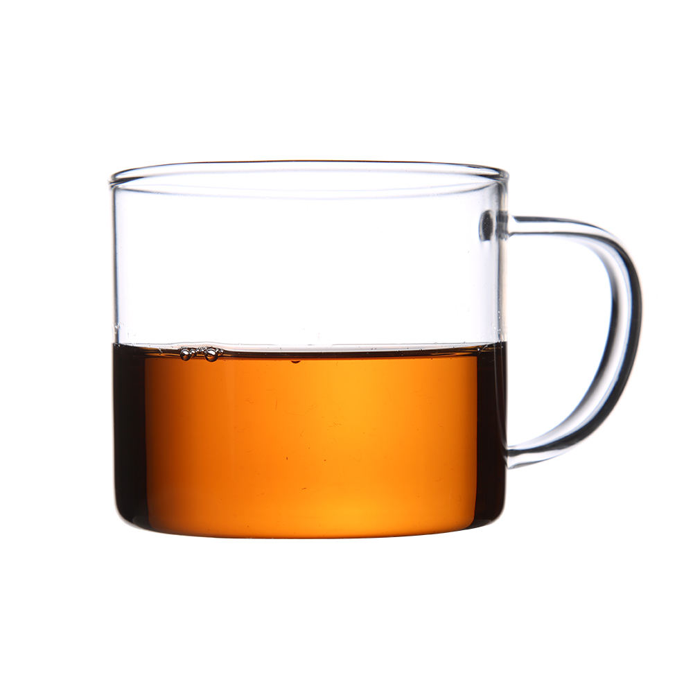 Wholesale manufacturers heat-resistant small glass cup with a transparent thicken small handle