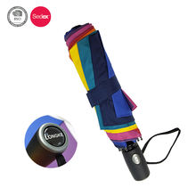 Rainbow umbrella wholesale foldable umbrella printed logo on the handle umbrella